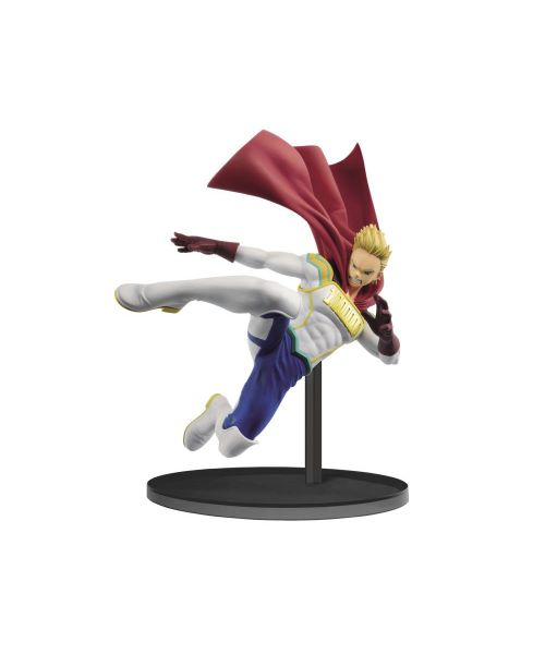 Flying in with a dynamic pose comes the hero Lemillion as part of Banpresto's The Amazing Heroes figure line! Lemillion is about 18cm tall and comes with a figure base to display him among the other heroes.