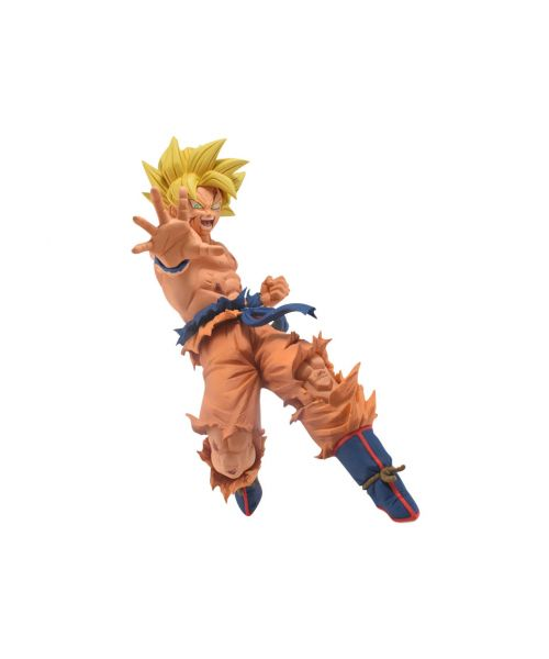 From Dragon Ball Super, this Toyotaro-style Super Saiyan Goku stands around 5 inches tall posed for attack. Pair him with his father Bardock for the full set.