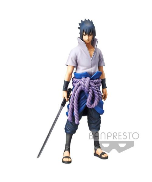 From Banpresto, the Grandista nero Sasuke Uchiha is a beautifully sculpted non-articulated figure featuring the iconic ninja dressed in his Shippuden outfit. Grandista nero is an advanced version of Grandista including several facial options.