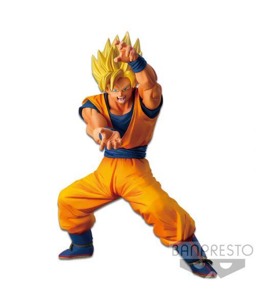 Super Saiyan Goku prepped for a Ki Blast joinsBanpresto's Super Chousenshi Retsudenline! Add him to your collection today!