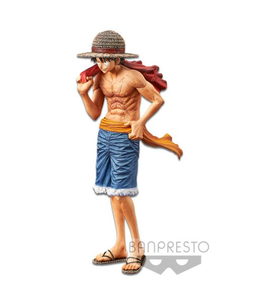 Banpresto releases Luffy withhis shirt off and the straw hat on his head in a determined pose, to celebrate the20th annniversary magazine publication. Luffy stands ~22cm tall.