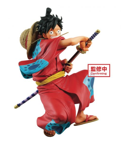 Collect the ultimate Monkey D. Luffy figure as part of the King of Artist series! He has been sculpted based on his appearance Wano Country and is in the midst of drawing his sword.